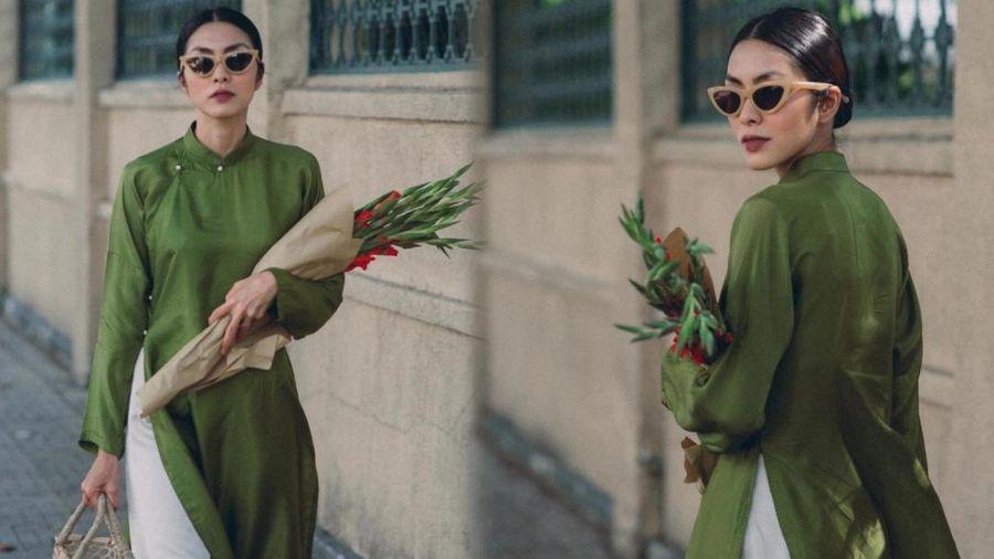 Nao lòng trước vẻ đẹp của Tăng Thanh Hà khi mặc áo dài Sài Gòn xưa