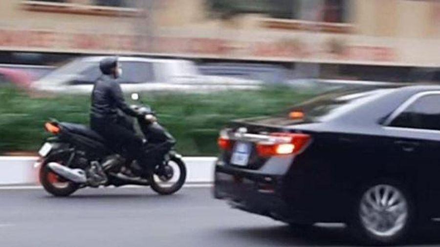 Triệu tập thanh niên cố tình phóng xe máy theo đoàn xe ưu tiên dự Đại hội XIII