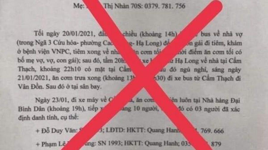 Không có bệnh nhân COVID-19 đi karaoke 'tay vịn' như thông tin lan truyền