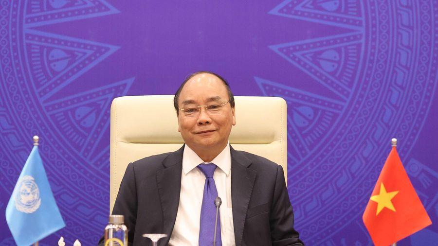 Thủ tướng Nguyễn Xuân Phúc phát biểu tại phiên họp của HĐBA