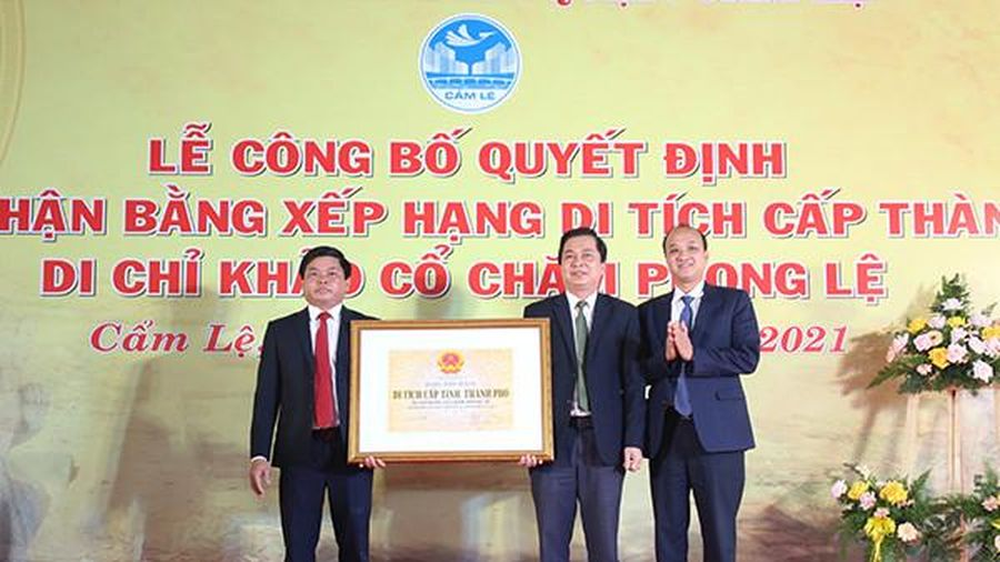 Đà Nẵng: Trao bằng xếp hạng cấp thành phố cho Di chỉ khảo cổ Chăm Phong Lệ