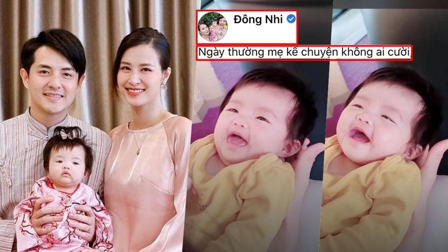Đông Nhi khoe clip con gái cười toe toét, fan rần rần vì quá đáng yêu: 'Sao y bản chính' từ bố Thắng