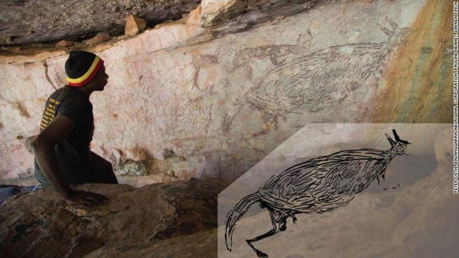 Phát hiện bức tranh khắc đá lâu đời nhất tại Australia