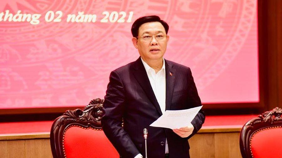 Bí thư Thành ủy Vương Đình Huệ: Sớm hoàn thiện để ban hành đồ án quy hoạch phân khu nội đô, sông Hồng