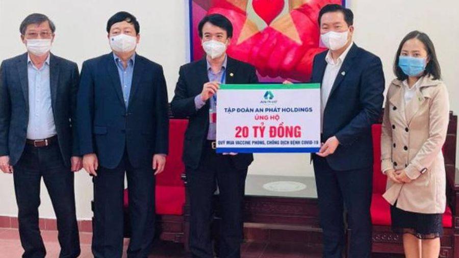 Nhiều doanh nghiệp ủng hộ Hải Dương hàng chục tỷ đồng chống dịch Covid-19