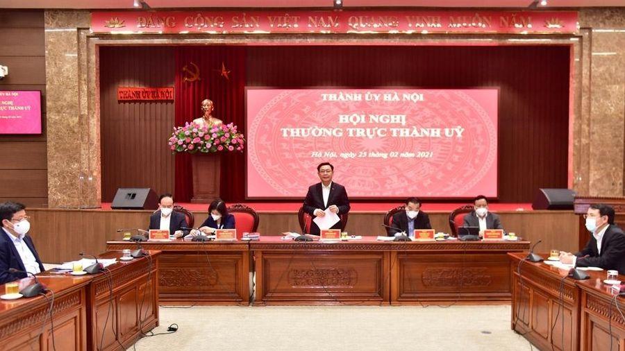 Thường trực Thành ủy Hà Nội cho ý kiến về 10 chương trình công tác toàn khóa XVII