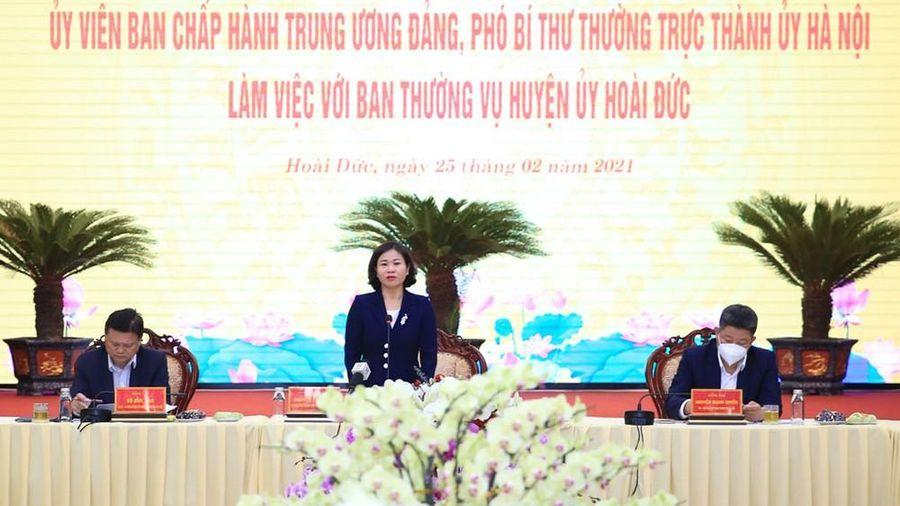 Hà Nội: Hoài Đức đạt 22/27 tiêu chí để trở thành quận