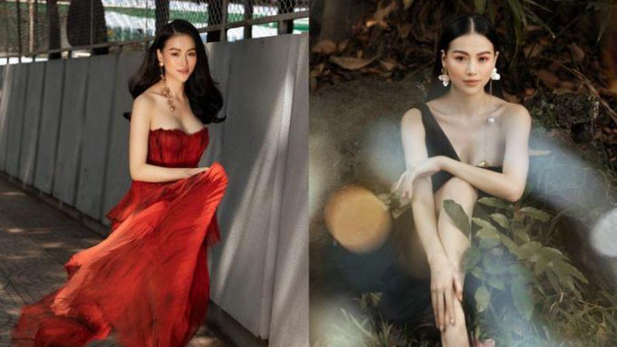Hoa hậu Phương Khánh ăn vận gợi cảm, tái xuất showbiz sau thời gian 'bốc hơi'