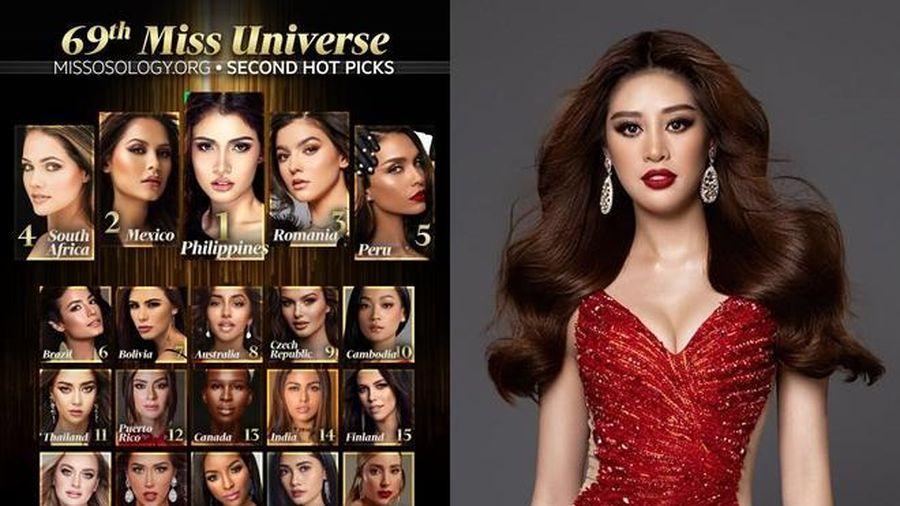 Fan bất bình khi Missosology để Khánh Vân rớt khỏi Top 20, Thái Lan rơi khỏi Top 10 Miss Universe