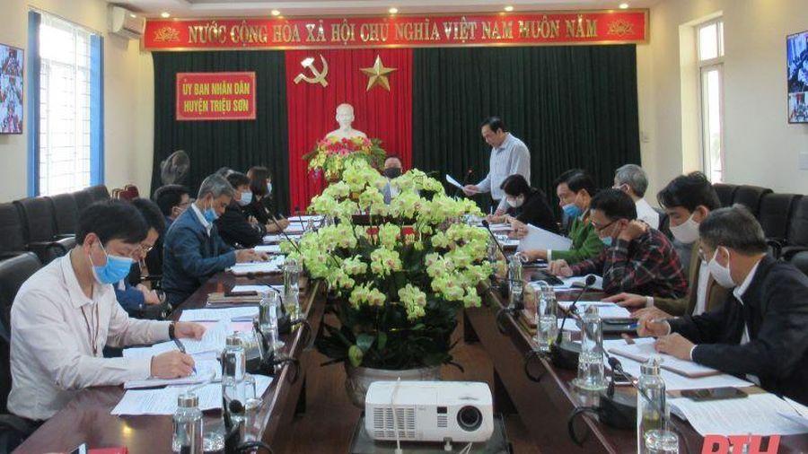 Huyện Triệu Sơn đôn đốc thực hiện kế hoạch năm 2021