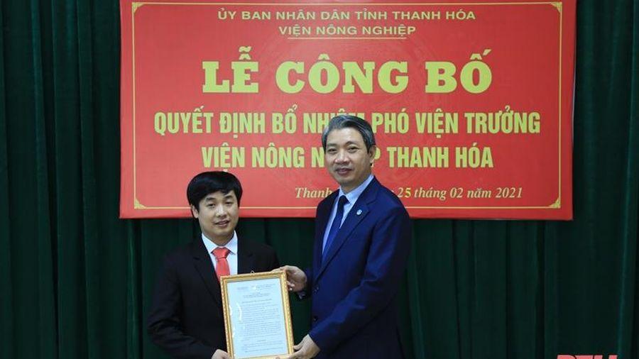 Công bố quyết định bổ nhiệm Phó Viện trưởng Viện Nông nghiệp Thanh Hóa