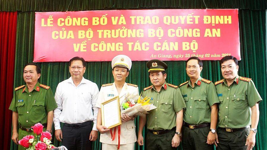 Thượng tá Lê Phú Thạnh được bổ nhiệm giữ chức vụ Phó Giám đốc Công an tỉnh An Giang