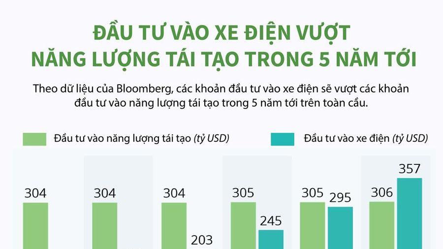Infographics: Đầu tư vào xe điện vượt năng lượng tái tạo trong 5 năm tới