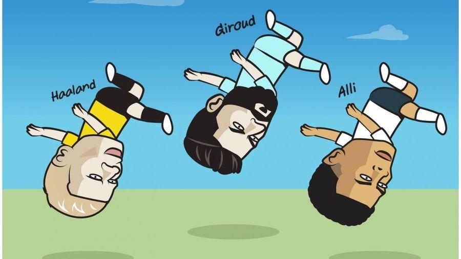 Biếm họa 24h: Haaland, Giroud, Alli thi nhau trổ tài 'ngả bàn đèn'