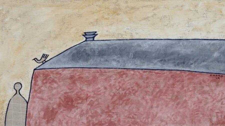 Triển lãm 'Về Bến lạ' của họa sĩ Lê Thiết Cương lấy cảm hứng từ thơ Đặng Đình Hưng