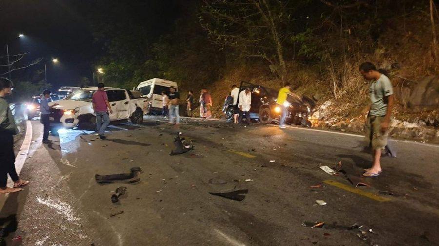 Tai nạn liên hoàn trên đèo Bảo Lộc (Lâm Đồng) gây kẹt xe kéo dài