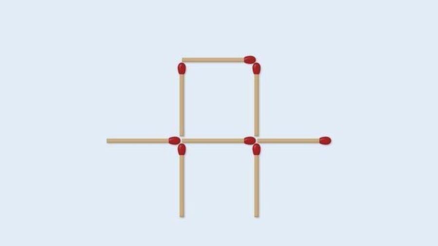 Đố bạn di chuyển 2 que diêm để tạo thành 2 hình vuông