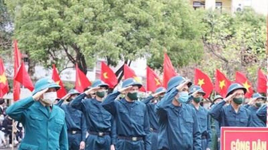 Bắc Giang: Lễ giao nhận quân được tổ chức nhanh gọn, chú trọng phòng dịch
