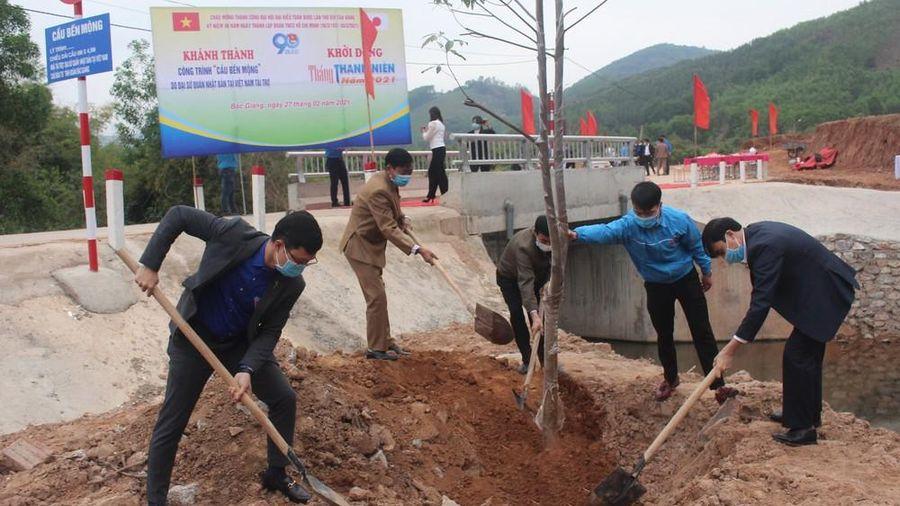 Tỉnh đoàn Bắc Giang khởi động tháng Thanh niên, khánh thành cầu 1,6 tỷ đồng