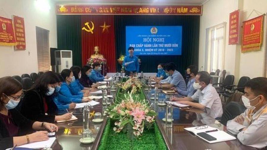 Hội nghị Ban chấp hành Liên đoàn Lao động huyện Gia Lâm lần thứ XIV