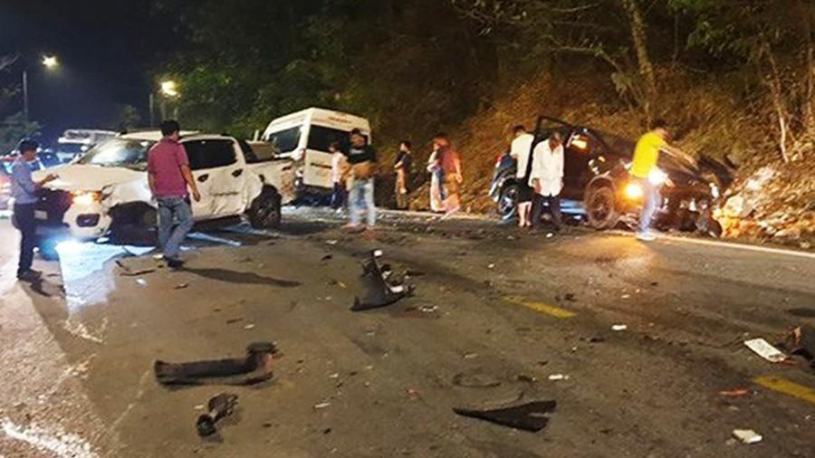 Tai nạn liên hoàn tại đèo Bảo Lộc tỉnh Lâm Đồng