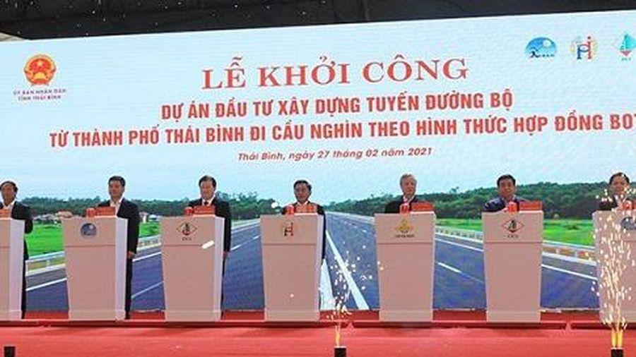 Thái Bình khởi công xây dựng tuyến đường bộ BOT trên 2.500 tỷ đồng