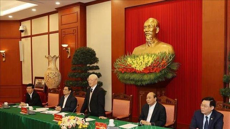 Gặp mặt các nguyên Ủy viên Bộ Chính trị, Ban Bí thư, Ủy viên Trung ương Khóa XII