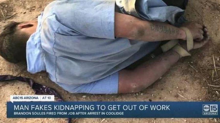 Giả bị bắt cóc để không phải đi làm