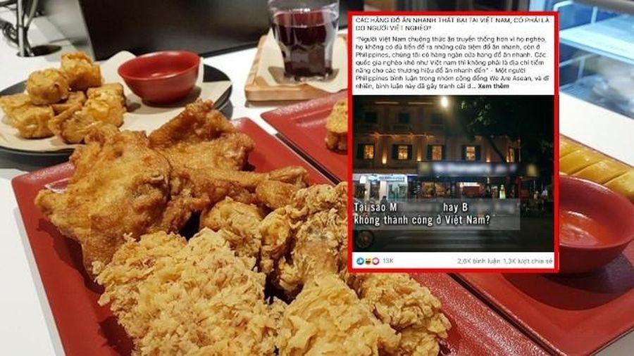 Câu hỏi gây tranh cãi: 'Các hãng đồ ăn nhanh thất bại tại Việt Nam, có phải là do người Việt nghèo?'