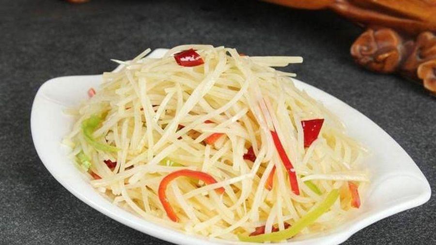 Mẹo làm khoai tây bào sợi chua cay chuẩn vị