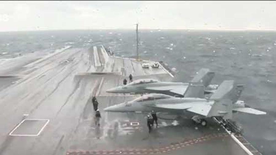 CLIP: Hình ảnh hiếm bên trong tàu sân bay như thành phố nổi của Hải quân Mỹ