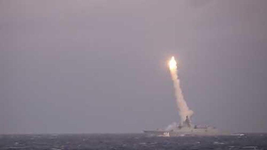 CLIP: Tên lửa hành trình siêu thanh Nga tiêu diệt mục tiêu cách xa 350 km