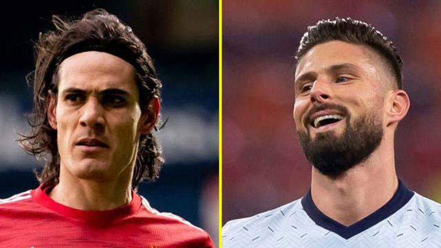 Giroud vs Cavani: 2 'củ gừng già' tăng gia vị đậm đà cho đại chiến Chelsea vs MU
