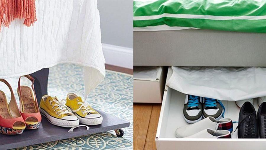 Những ý tưởng giá để giày giúp không gian gọn gàng, xinh xắn