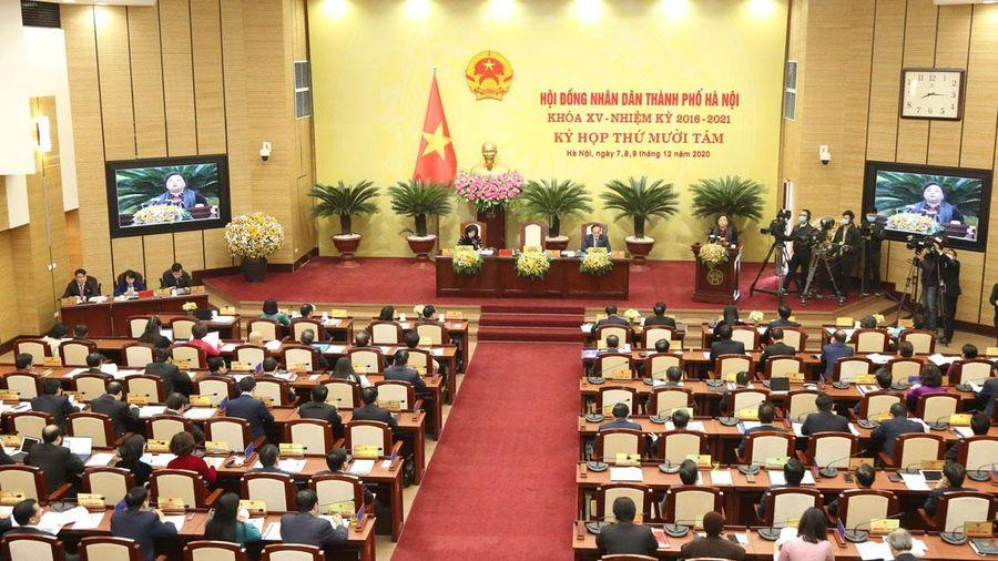 Thực hiện các vấn đề được HĐND thành phố Hà Nội chất vấn tại kỳ họp thứ mười tám