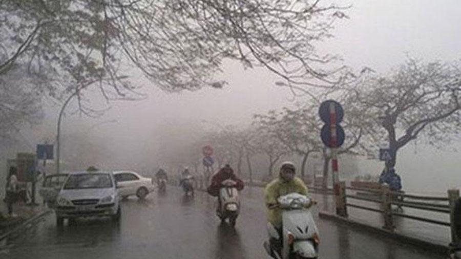 Hà Nội xảy ra mưa, rét những ngày đầu tuần