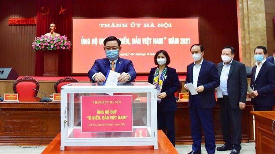 Hà Nội ủng hộ Quỹ 'Vì biển, đảo Việt Nam' năm 2021