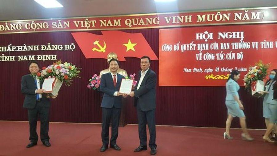Nam Định: Điều động, bổ nhiệm 2 Thường vụ Tỉnh ủy