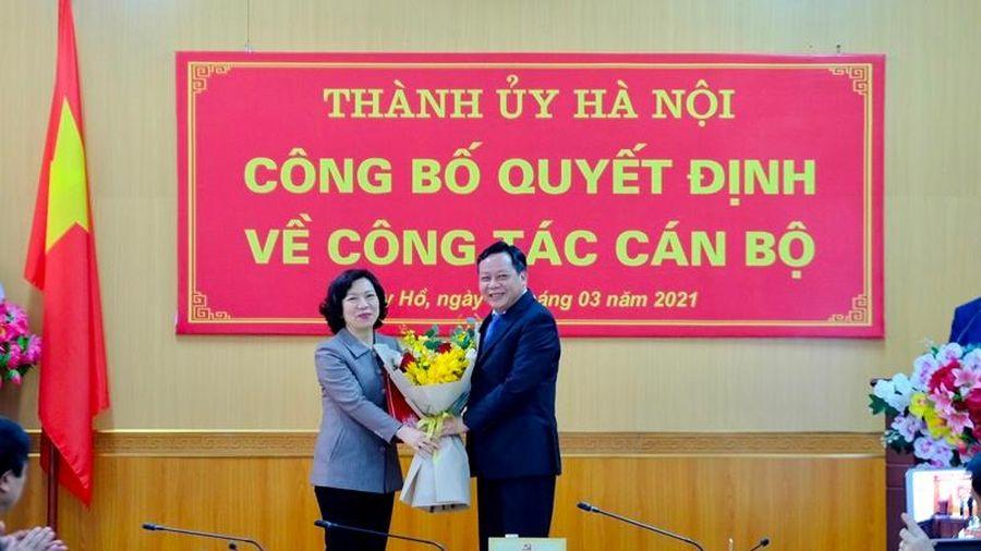 Bà Lê Thị Thu Hằng được phân công làm Bí thư Quận ủy Tây Hồ