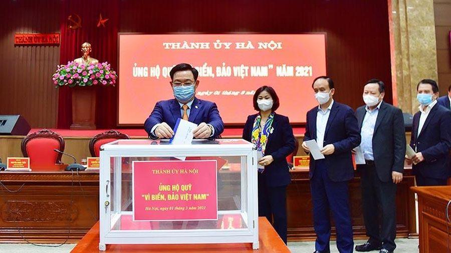 Thành ủy Hà Nội ủng hộ Quỹ 'Vì biển, đảo Việt Nam' năm 2021