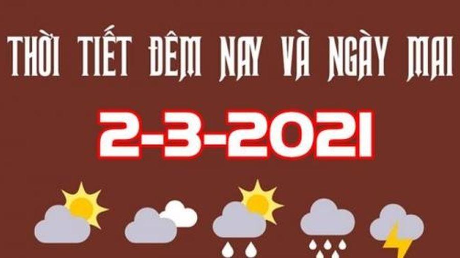 Dự báo thời tiết đêm nay và ngày mai 2/3/2021