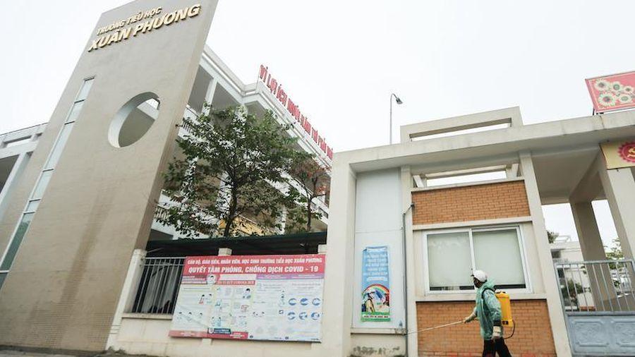 Trường tiểu học Xuân Phương sẵn sàng đón học sinh trở lại trường