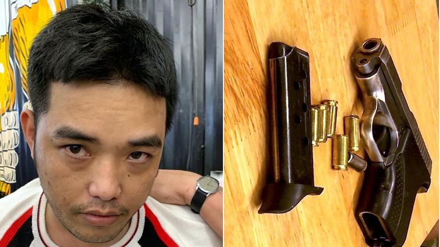 Bắt đối tượng truy nã có mang súng