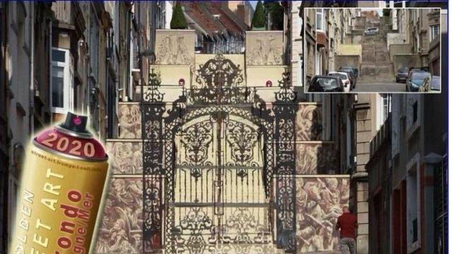Tác phẩm nghệ thuật đường phố đẹp nhất ở Pháp là... ảo ảnh quang học