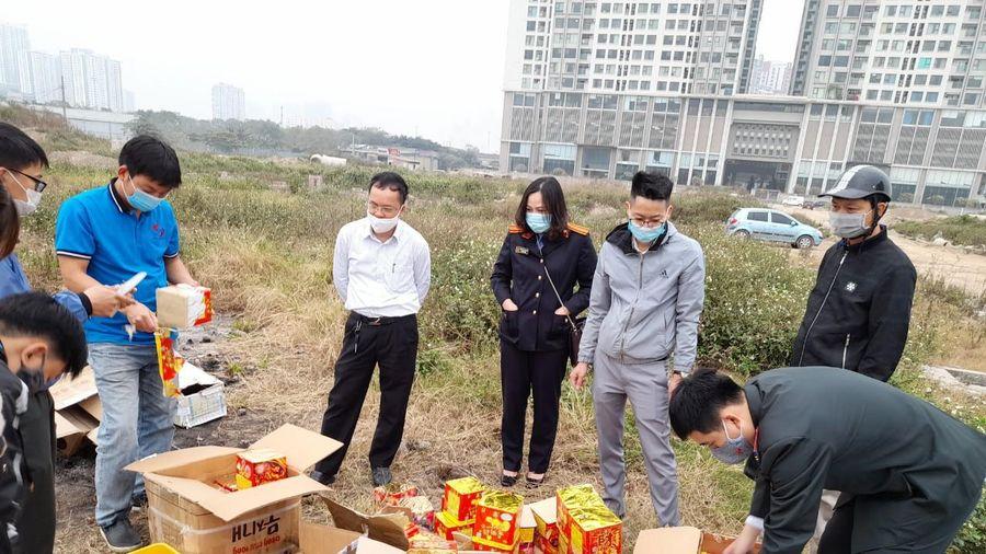 Cục Thi hành án dân sự Hà Nội tiêu hủy 105,3kg pháo nổ