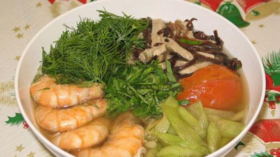 Cách nấu bún tôm thơm ngon ăn no căng tròn trong bữa sáng