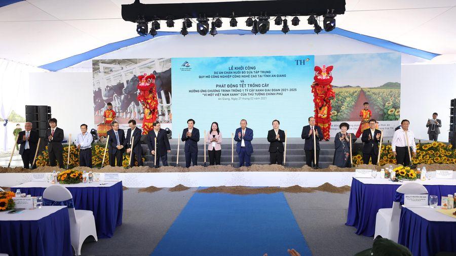 Tập đoàn TH khởi công Dự án chăn nuôi bò sữa công nghệ cao, lớn nhất Đồng bằng sông Cửu Long