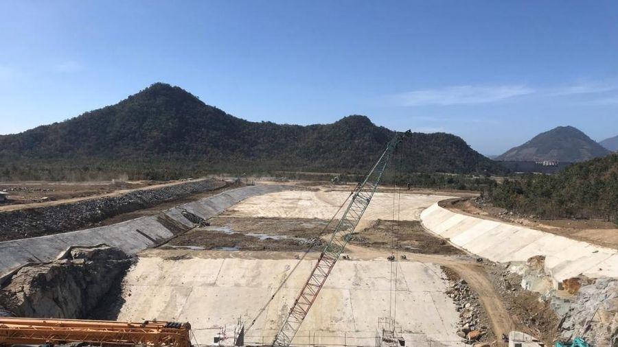 Cụm công trình cửa xả Dự án Thủy điện tích năng Bác Ái sẽ về đích trong tháng 3/2021