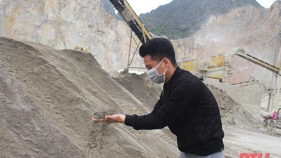 Vật liệu mới từ cát nghiền thay thế cho cát, sỏi tự nhiên