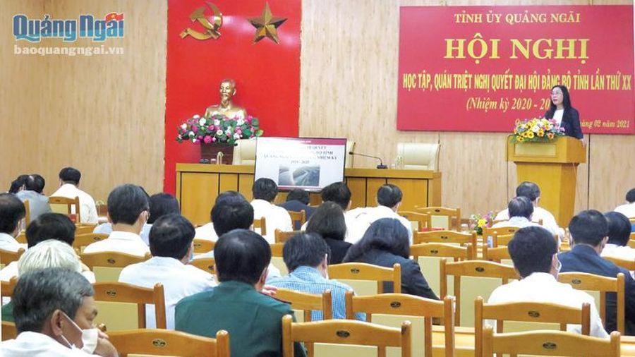 Thực hiện Nghị quyết Đại hội Đảng bộ tỉnh lần thứ XX: Cần quyết tâm cao